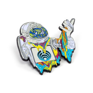 Melting Astronaut Pin