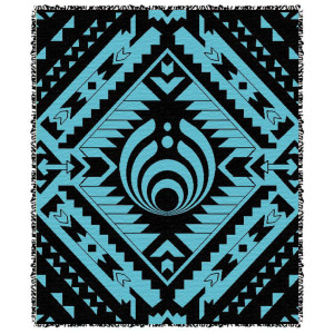 Blue and Black Aztec Blanket