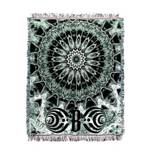 Green and Black Mandala Blanket