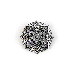 NYE360 Sacred Black White Pin