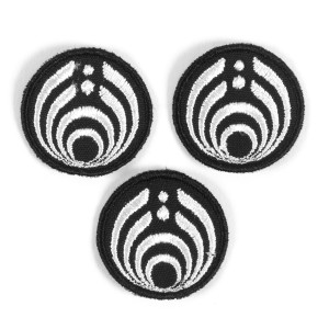 Black and White Emblem Patch Set
