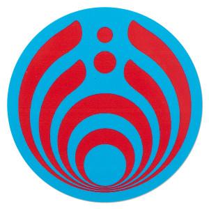 Blue and Red Emblem Sticker