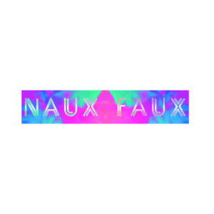 Naux Faux Reflective Sticker