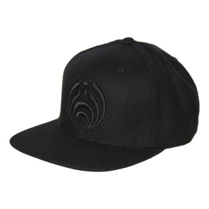 Black on Black Puffy Bassdrop Logo Hat