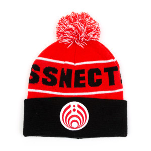 Red Custom Patch Knit Beanie