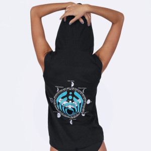 Bassnectar - Moons - Sleeveless Hoodie - Blue Moth