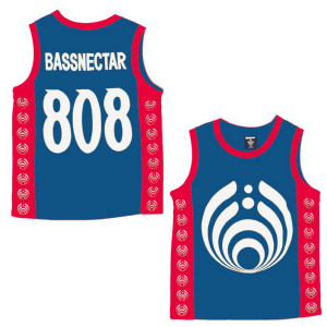Bassdrop 808 Basketball Jersey - Red/White/Blue