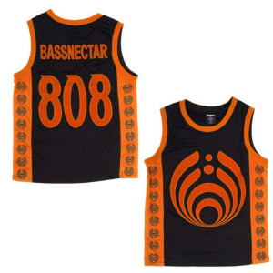 Bassdrop 808 Basketball Jersey - Orange/Black