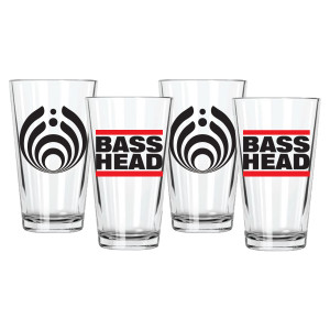 Bass Head Pint Glasses (Set of 4)