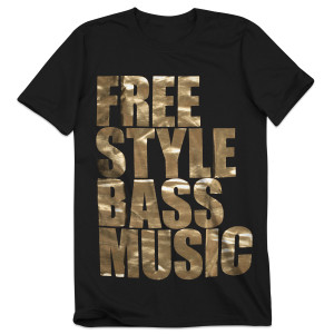 Bassnectar - Freestyle Bass Music - Gold Foil Tee