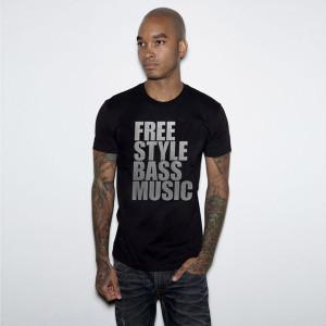 Bassnectar - Freestyle Bass Music - Silver Foil Tee
