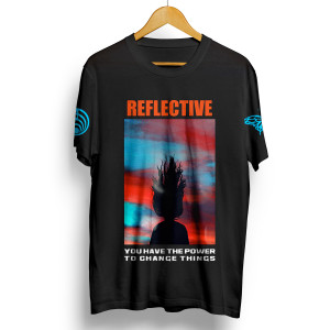 Reflective Part 3 Black T-Shirt