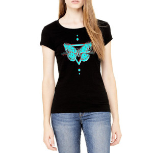 Bassnectar - Ladies Moth - Black Tee