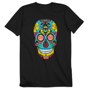 Bassnectar Day Of The Dead Skull T Shirt