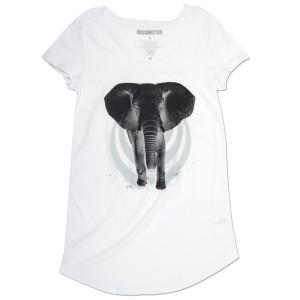 Bassnectar Elephant Tunic White