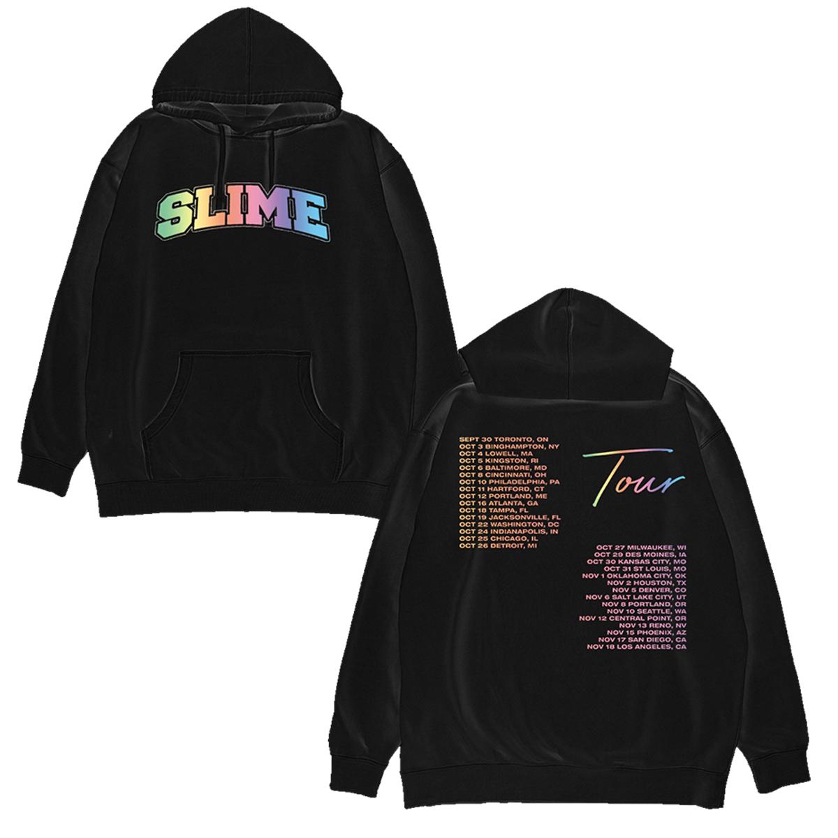 YT Slime Logo Black Hoodie