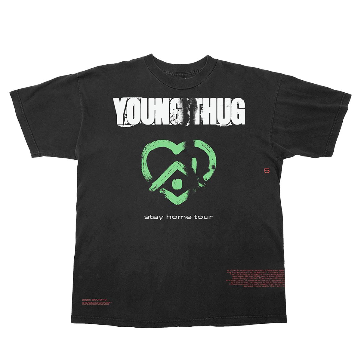 2020 Stay Home Tour Black & Green T-Shirt