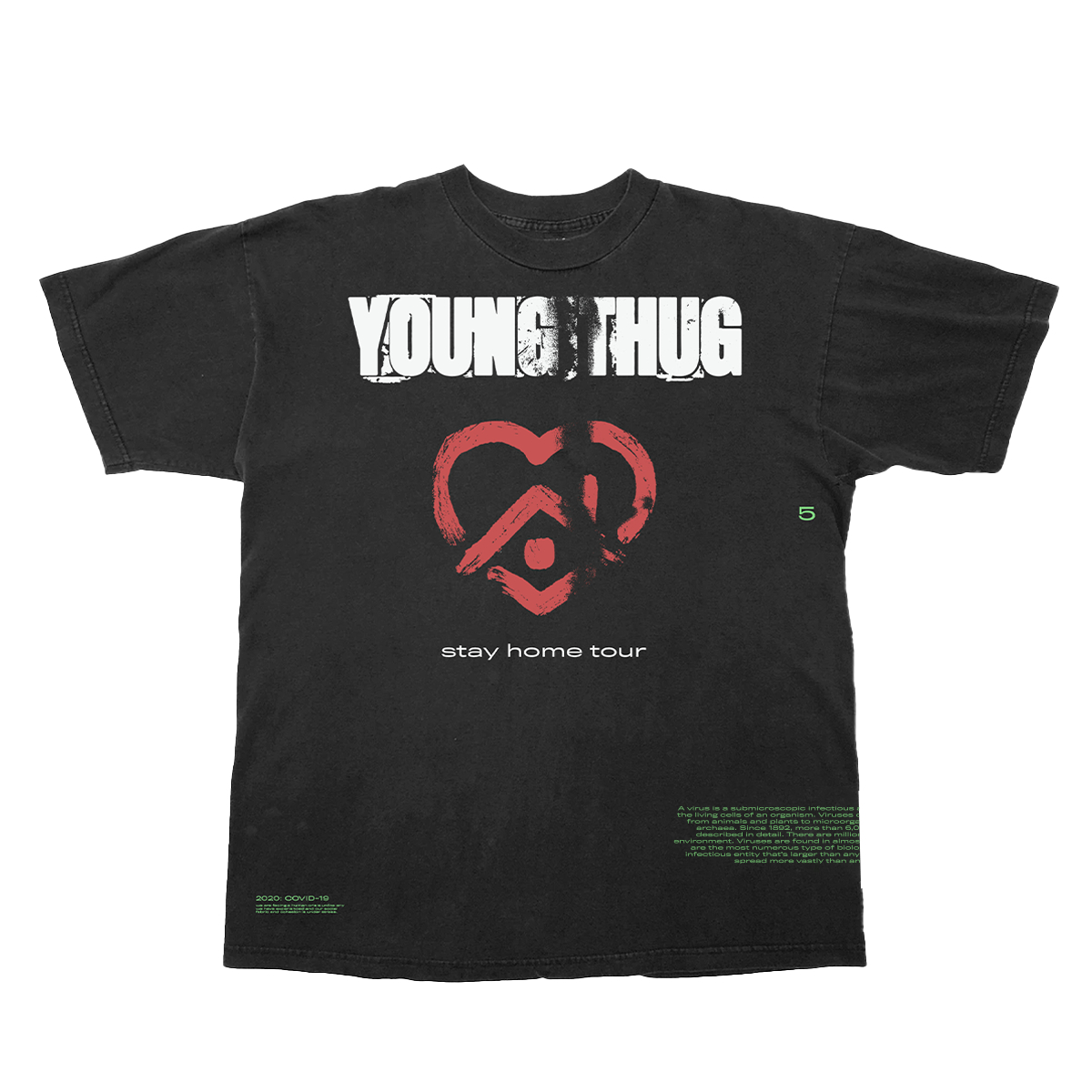 2020 Stay Home Tour Black & Red T-Shirt