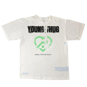 2020 Stay Home Tour White & Green T-Shirt