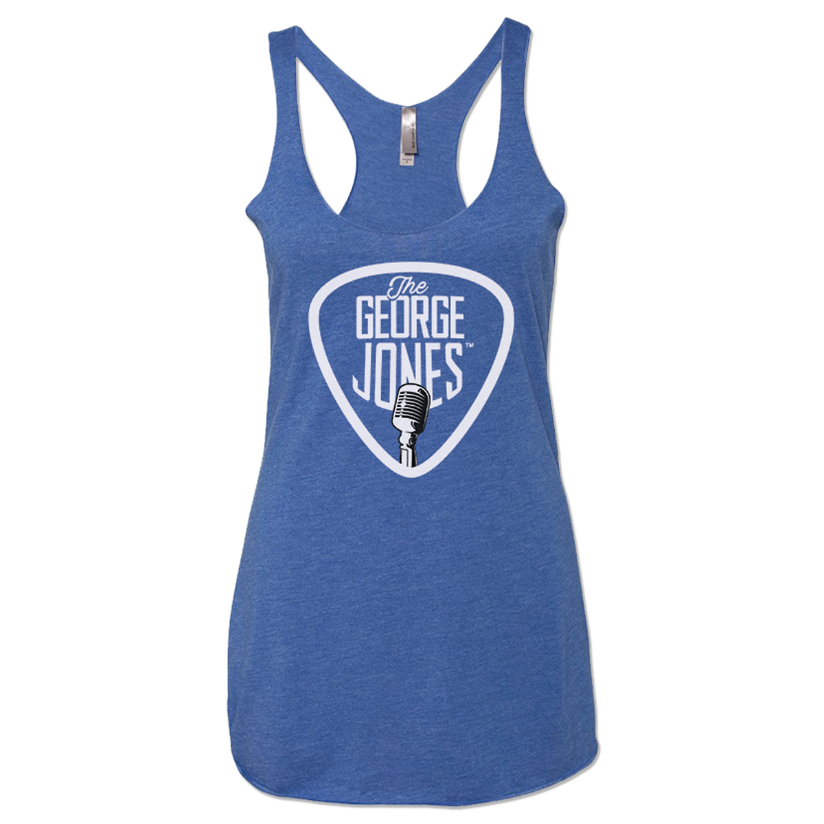 George Jones Pick and Nashville Happens Here Ladies Tank Top – Royal