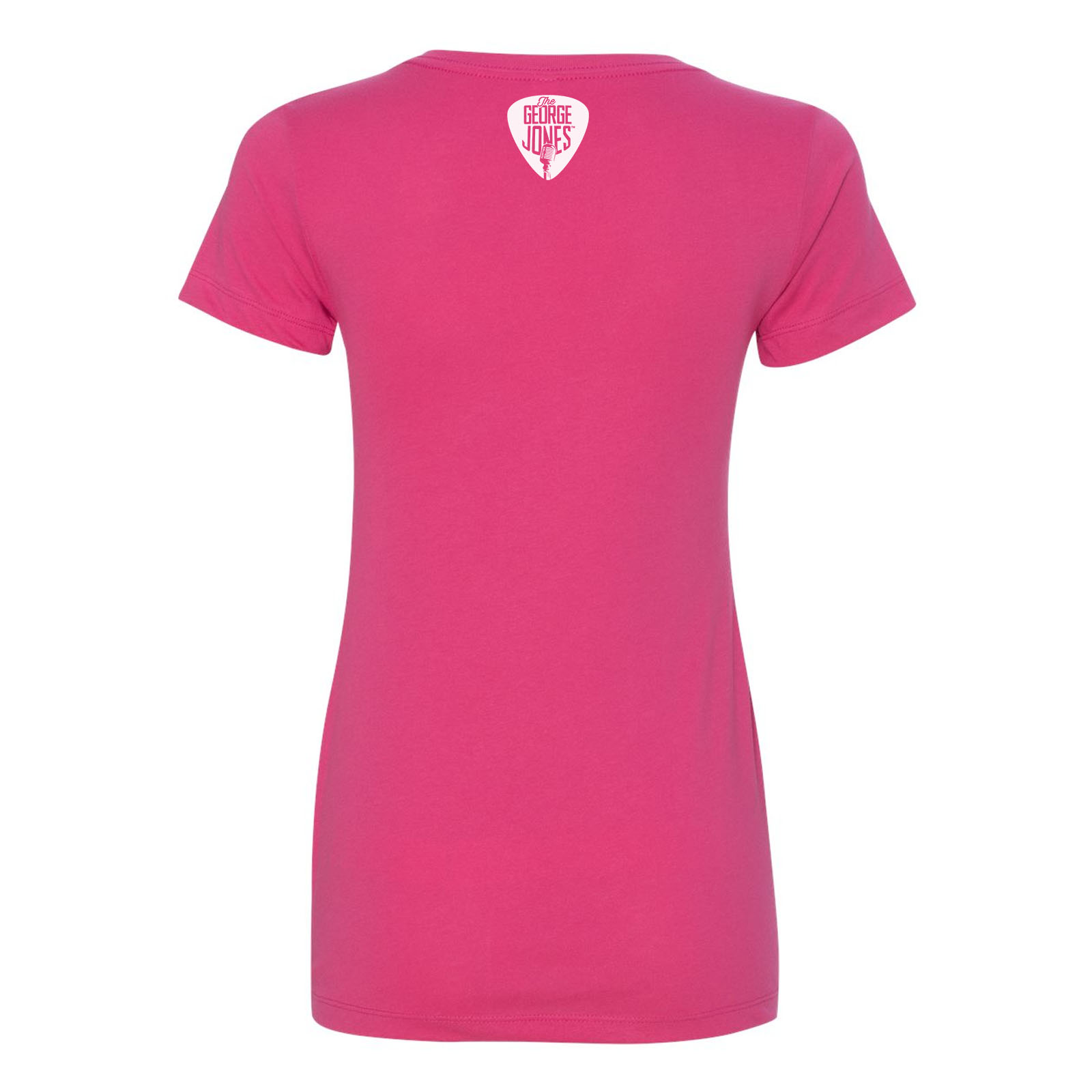 George Jones $2 Pistol Ladies' V-Neck - Pink