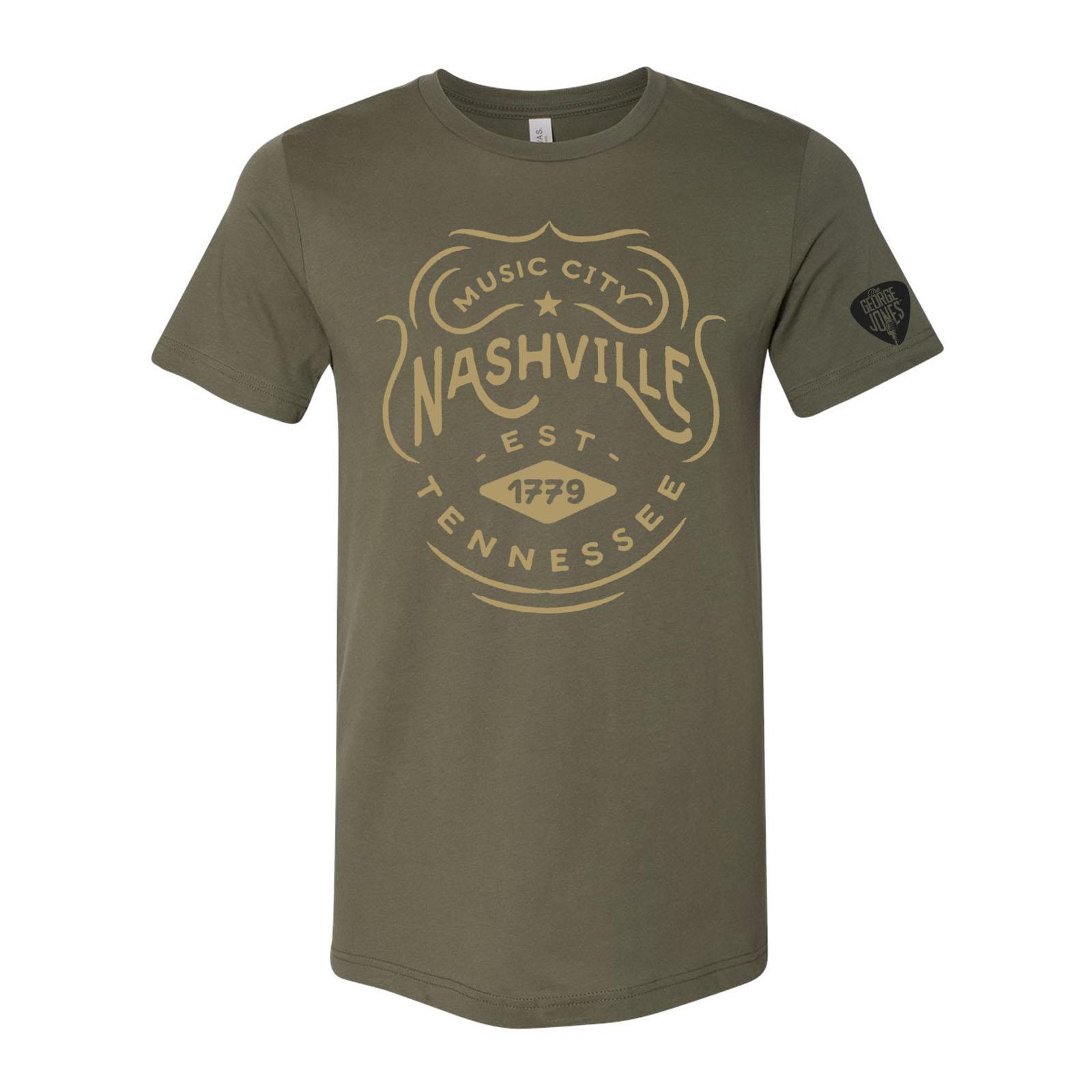 George Jones Music City T-Shirt - Military Green