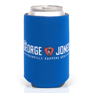 George Jones Blue Can Cooler