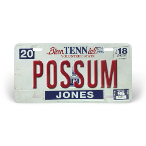 George Jones License Plate – Possum