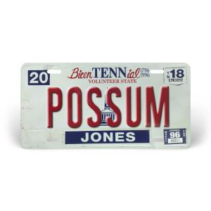 George Jones License Plate – Possum