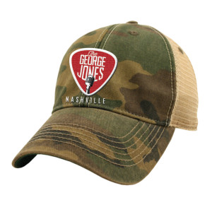 George Jones Guitar Pick Camo Trucker Hat