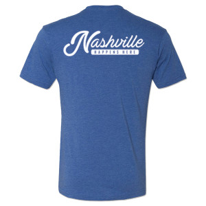 George Jones Pick Logo and Nashville Happens Here T-Shirt – Royal