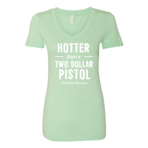George Jones $2 Pistol Ladies' V-Neck - Mint