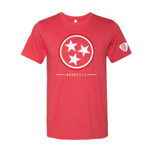 George Jones Tri-Star T-Shirt - Red