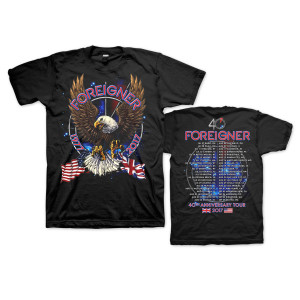 Foreigner 40th Anniversary Tour Tee w/ dateback