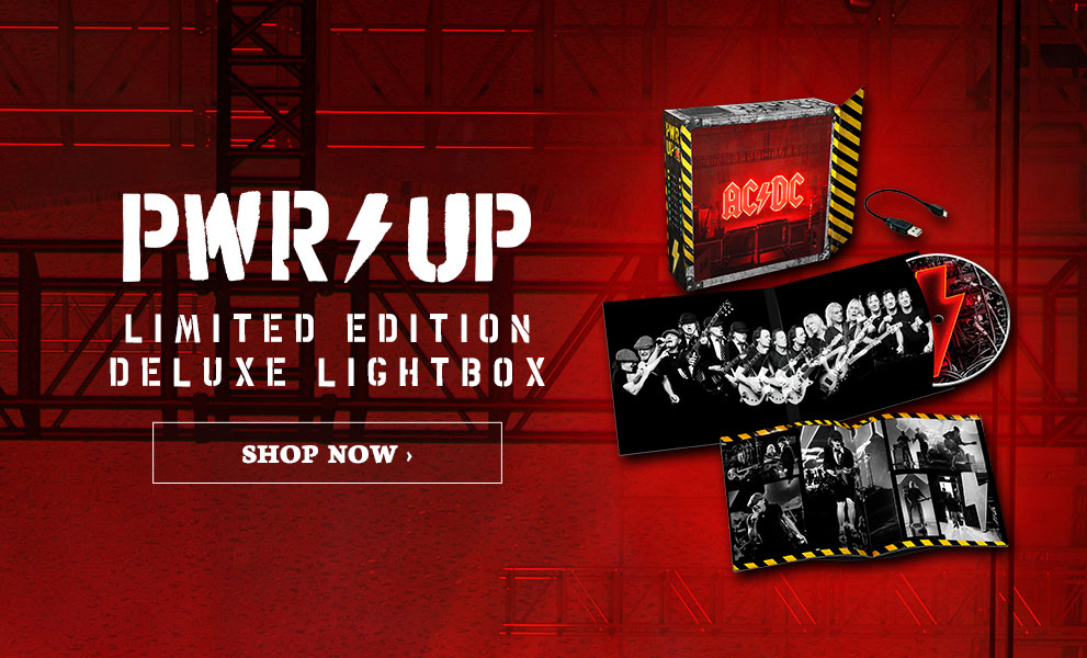 AC/DC | Power Up limited edition deluxe lightbox | Order Now