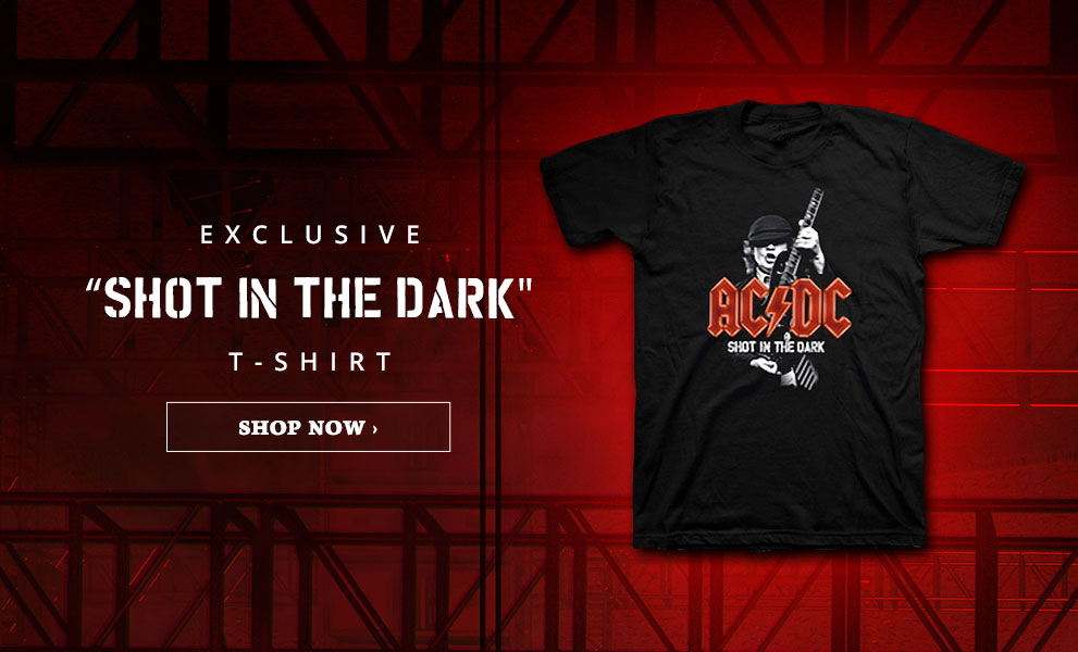 "AC/DC | Exclusive ""Shot in the Dark"" t-shirt. 