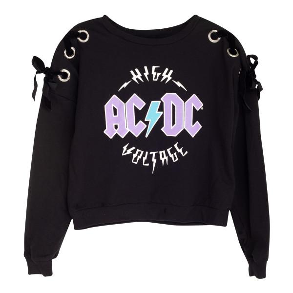059e2e6cbf47 Ladies High Voltage Black Crewneck Sweatshirt