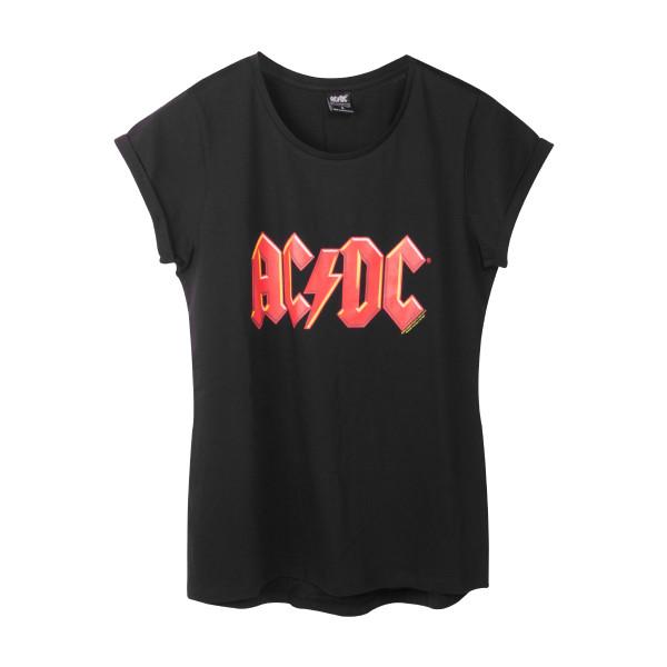 674eab7a341d AC/DC Women's Red Lightning Logo T-Shirt | Shop the AC/DC Official Store