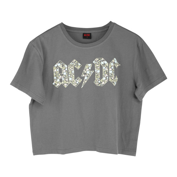 ACDC AC-DC Rock Band CLASSIC LOGO Licensed Women/'s T-Shirt All Sizes