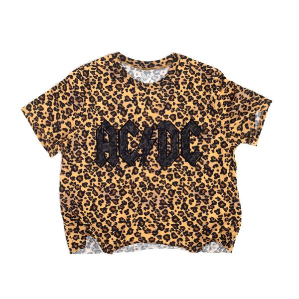 b0abc007d1219 AC DC Cheetah Print Logo T-shirt