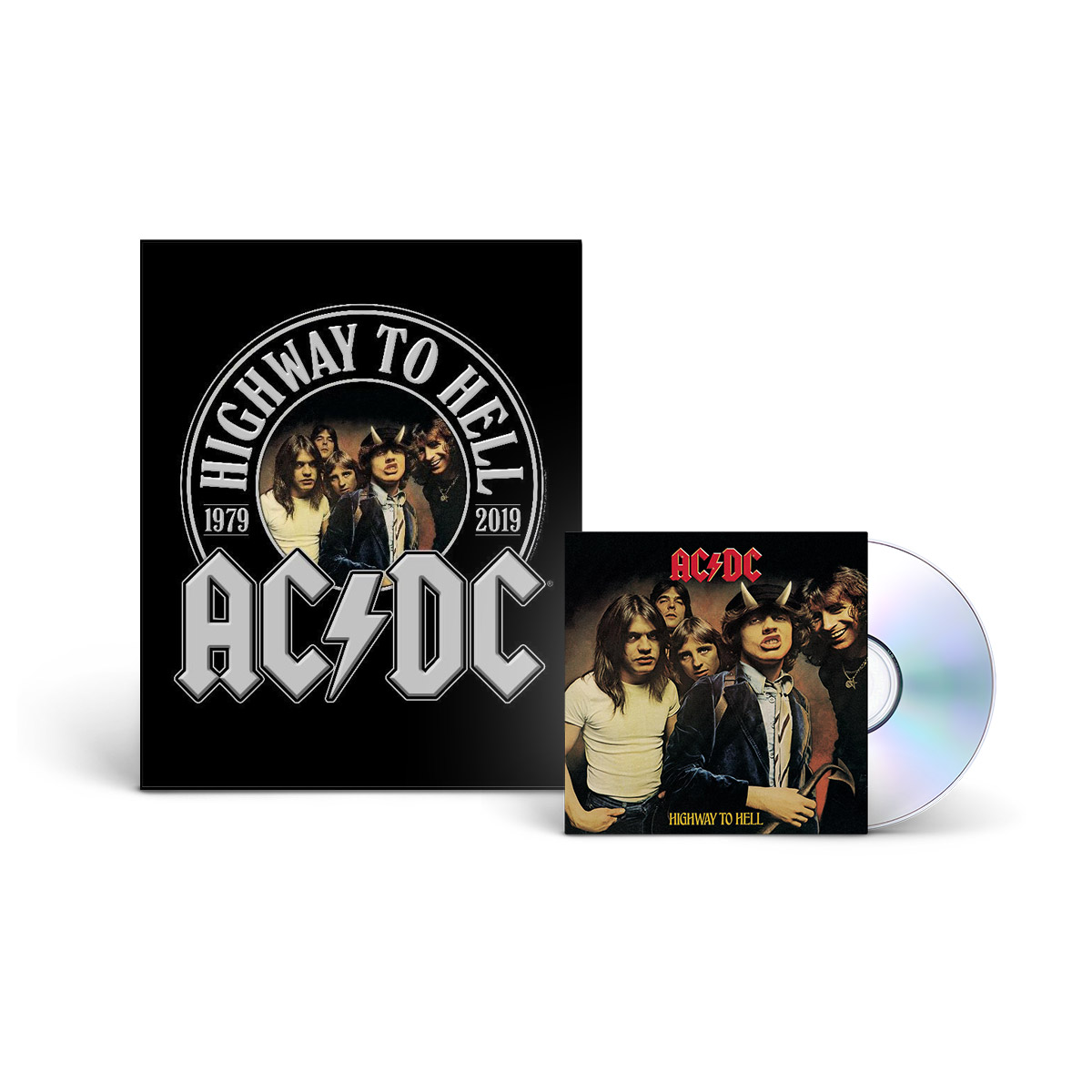 AC/DC Highway To Hell CD & 40th Anniversary Wood Panel