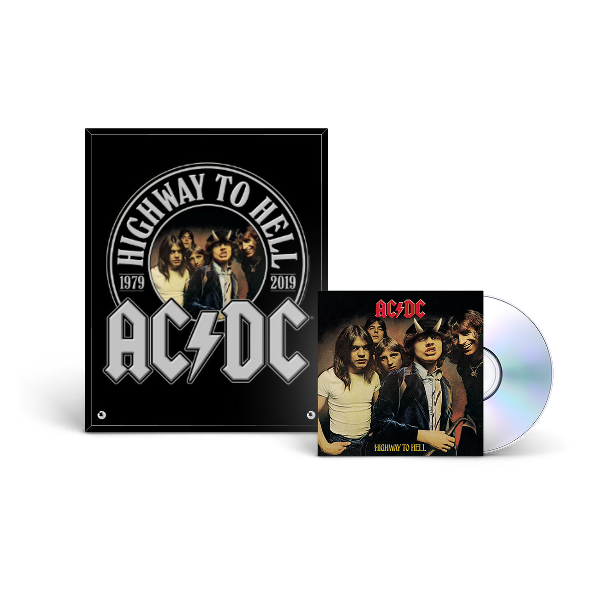 AC/DC Highway To Hell CD & 40th Anniversary Glass Print
