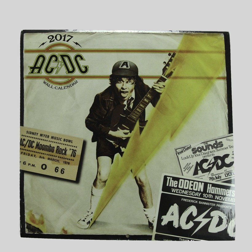 AC/DC 2017 Wall Calendar