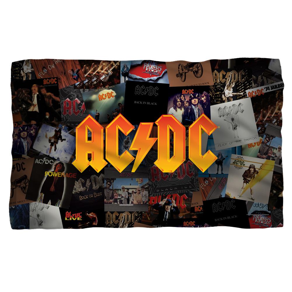AC/DC - Albums -Fleece Blanket - White [36 X 58]