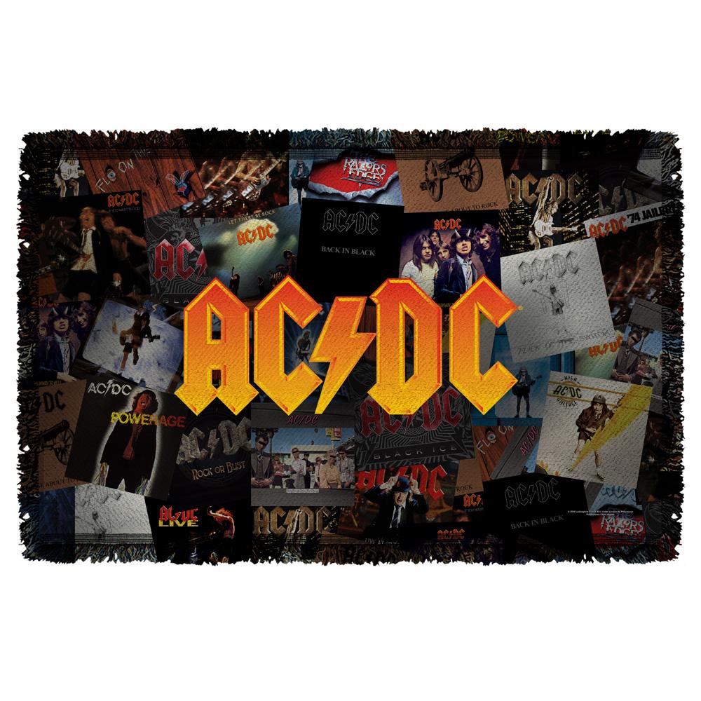 AC/DC - Albums - Woven Throw - White [36 X 58]