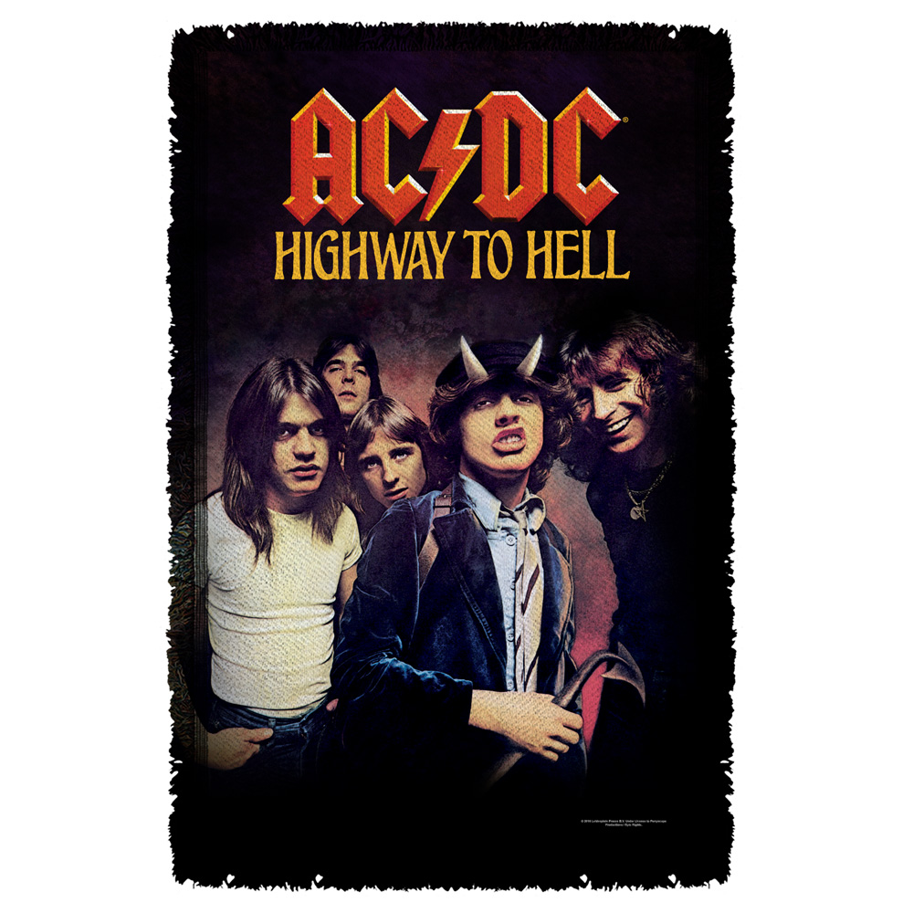 AC/DC - Highway-Woven Throw - White [36 X 58]