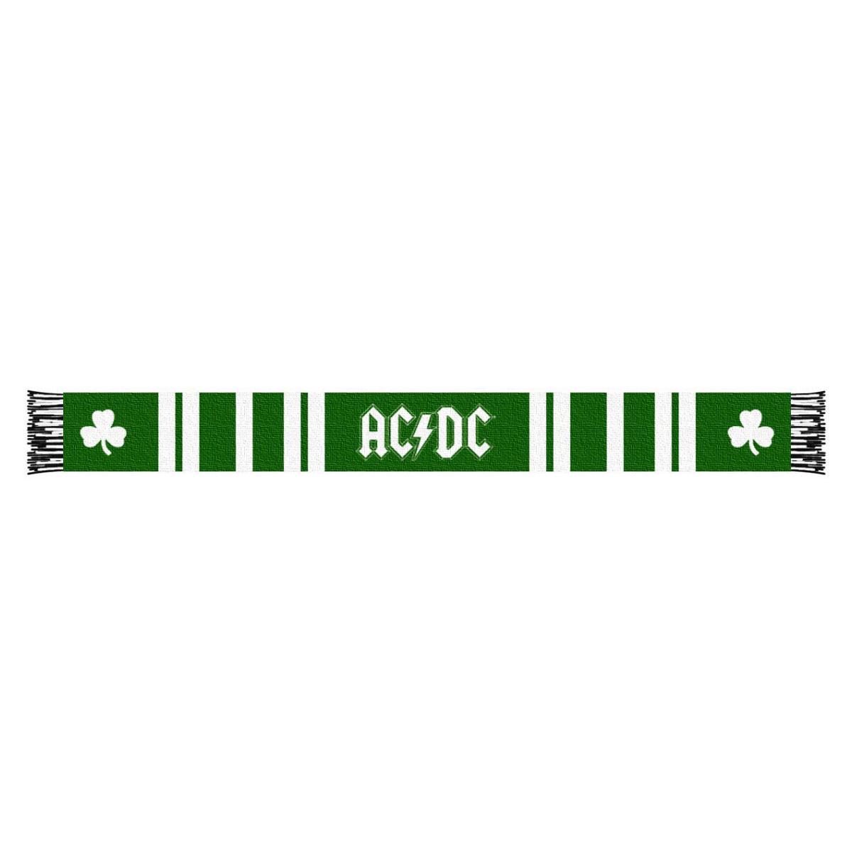 AC/DC Shamrock Scarf Green and White Stripes