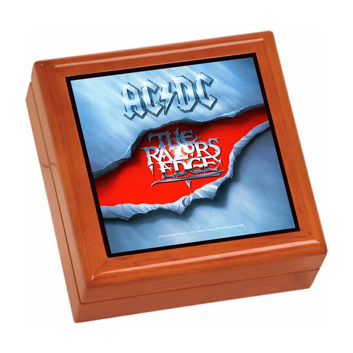 Razor's Edge Wooden Keepsake Box