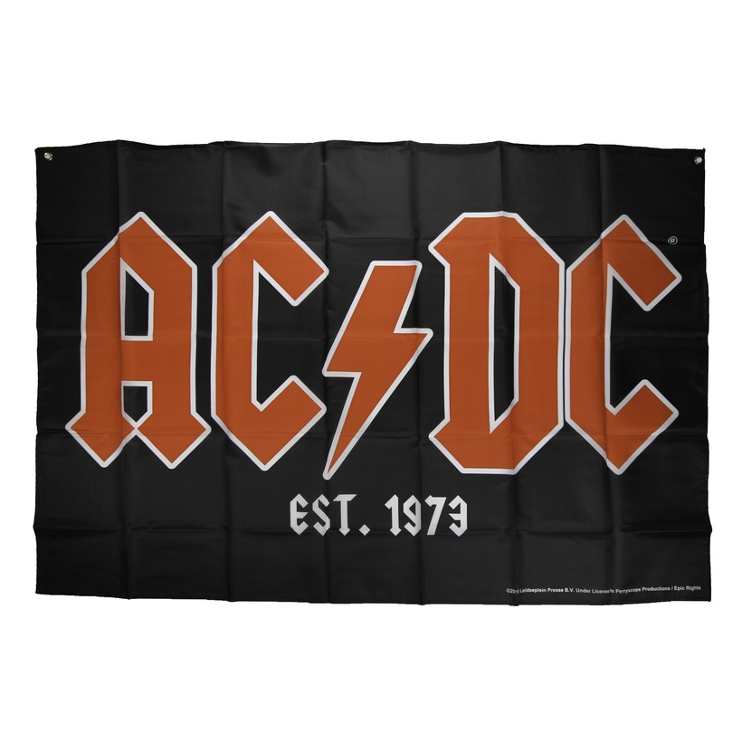 AC/DC Red Logo Flag