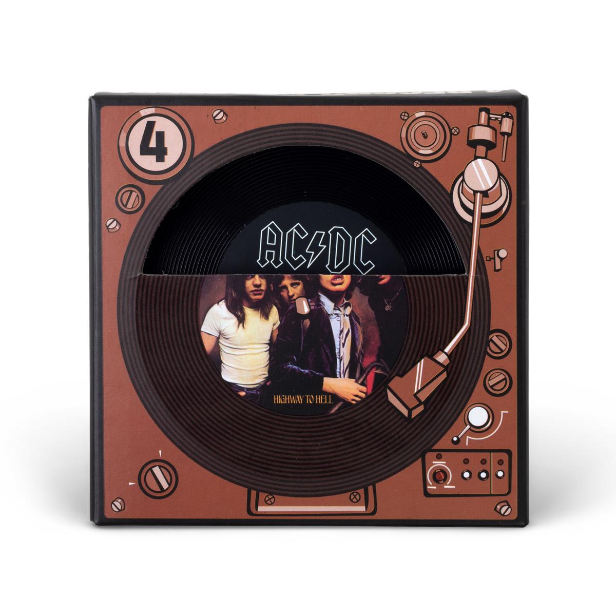 AC/DC Record Coaster Set